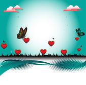 El amor está en todas partes — Vector de stock