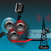 Radio theme — Stock Vector