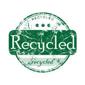 Timbro di gomma riciclata grunge — Vettoriale Stock