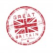 Great Britain grunge rubber stamp — Stock Vector