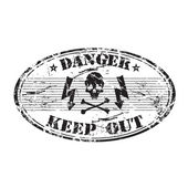Danger keep out stamp — Stock Vector