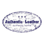 Authentic leather — Stock Vector