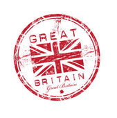 Great Britain grunge rubber stamp — Stok Vektör
