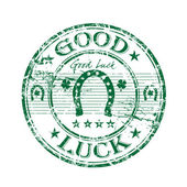 Good luck grunge rubber stamp — Stock Vector