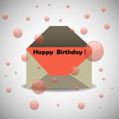 Birthday envelope — Stock Vector