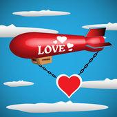 Love blimp — Stock Vector