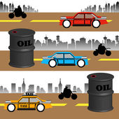 石油の消費量 — ストックベクタ