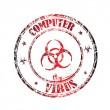 Computer virus grunge rubber stamp — Stock Vector