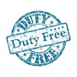 Duty free grunge rubber stamp — Stock vektor