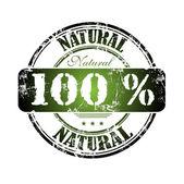 Hundra procent naturliga grunge gummistämpel — Stockvektor