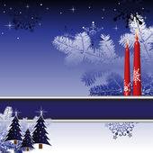 Kerstmis briefkaart — Stockvector