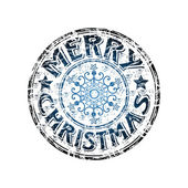 Merry Christmas grunge rubber stamp — Stock Vector