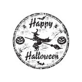 Happy Halloween grunge rubber stamp — Stock Vector