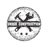 Under construction grunge rubber stamp — Stock Vector
