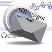 You've got new mail — Stock Vector