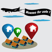 Houses for sale — Stock Vector