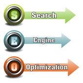 Search Engine Optimization — Vector de stock