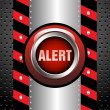 Stock Vector: Alert button