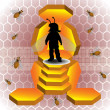 Bee throne — Stock Vector