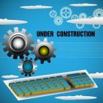 in costruzione — Vettoriale Stock