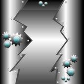 Metallic high tech design — Cтоковый вектор