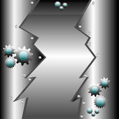 Metallic high tech design — Vetorial Stock