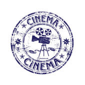 Cinema rubber stamp — Stock Vector