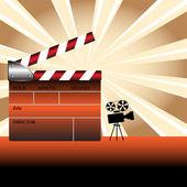 Fjällpanel och film projektor — Stockvektor