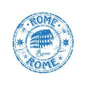 Rome grunge rubber stamp — Stock Vector