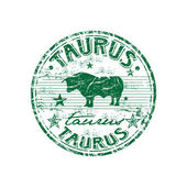 Taurus grunge rubber stamp — Stock Vector