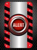 Alert button — Stock Vector