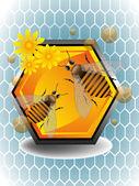 Bees — Stockvector