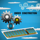 Under construction — Stock Vector