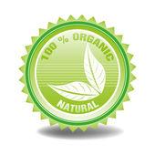 One hundred percent organic — Stock Vector