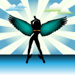 Hot angel — Stock Vector