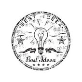 Best idea grunge rubber stamp — Stok Vektör