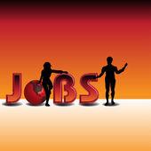 Op zoek naar een baan — Stockvector