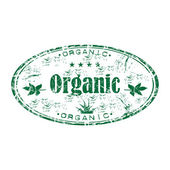 Organic grunge rubber stamp — Stock Vector