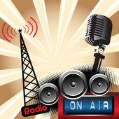 Radio — Stock Vector
