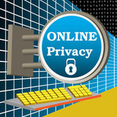 Online privacy — Stock Vector