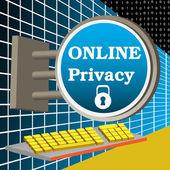 Prywatność w trybie online — Wektor stockowy