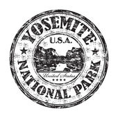 Yosemite National Park grunge rubber stamp — Stock Vector