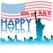 Happy Fourth of July — Stock Vector
