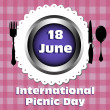 International picnic day — Stock Vector