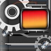 Yüksek teknoloji çerçeve — Stok Vektör