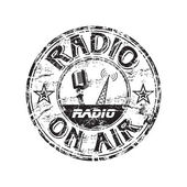 Radio grunge rubber stamp — Stock Vector