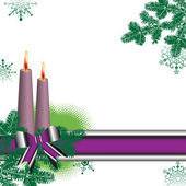 Christmas postcard with two candles — Stock vektor