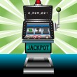 Stock Vector: Casino slot machine
