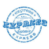 Express grunge rubber stamp — Stock Vector
