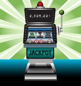 Casino slot makinesi — Stok Vektör